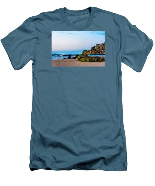 Men's T-Shirt (Slim Fit) featuring the photograph Vibrant Seascape At Twilight by Marion McCristall