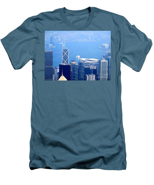 Men's T-Shirt (Slim Fit) featuring the photograph Victoria Peak 2 by Randall Weidner