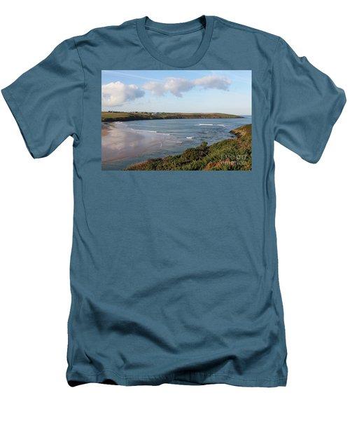 Men's T-Shirt (Slim Fit) featuring the photograph View Across The Gannel Estuary by Nicholas Burningham