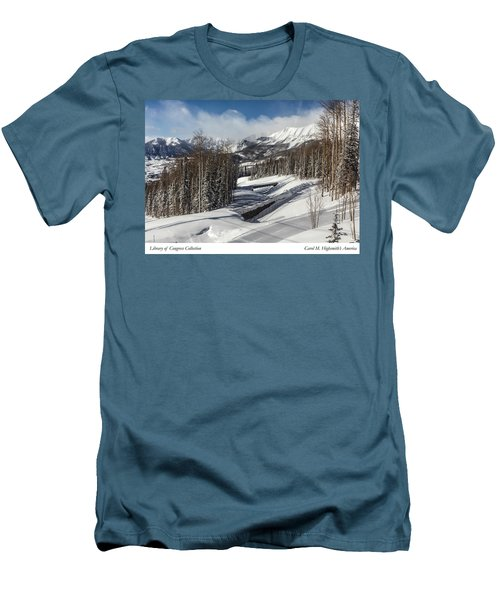 Men's T-Shirt (Slim Fit) featuring the photograph View From A Mountain Above Telluride In Colorado by Carol M Highsmith