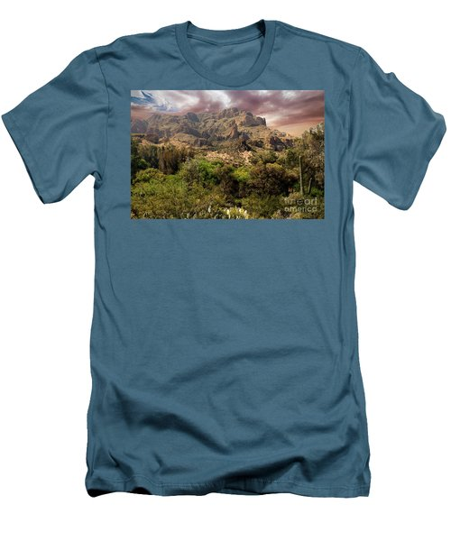 View From Boyce Thompson Men's T-Shirt (Slim Fit) by Anne Rodkin