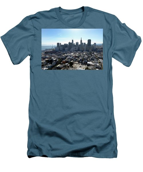 View From Coit Tower Men's T-Shirt (Slim Fit) by Steven Spak