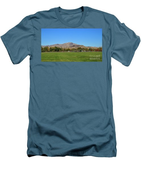 View From Gem Island Sport Complex Men's T-Shirt (Athletic Fit)