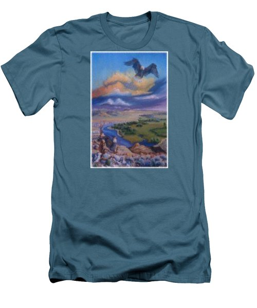 Men's T-Shirt (Slim Fit) featuring the painting View From Sheep Rock by Dawn Senior-Trask