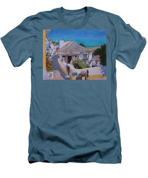 View On Obidos Men's T-Shirt (Athletic Fit)