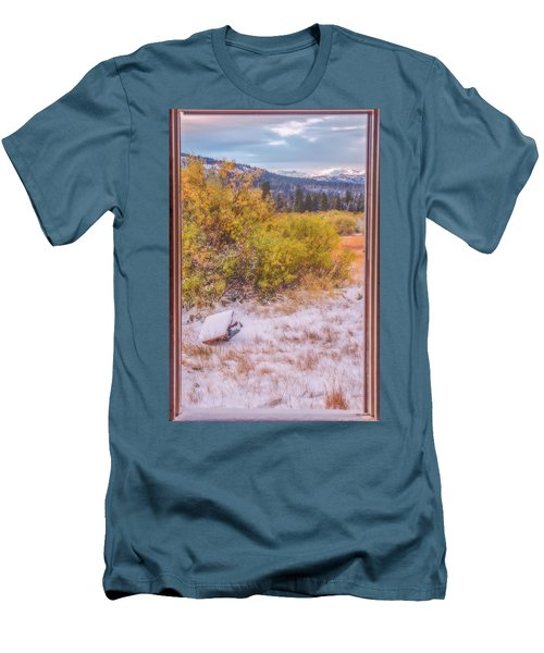 View Out Of A Broken Window Men's T-Shirt (Athletic Fit)