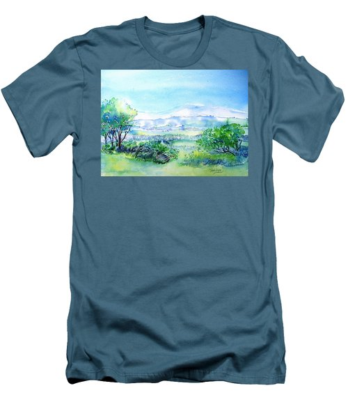 View Through The Gap,wicklow  Men's T-Shirt (Slim Fit) by Trudi Doyle