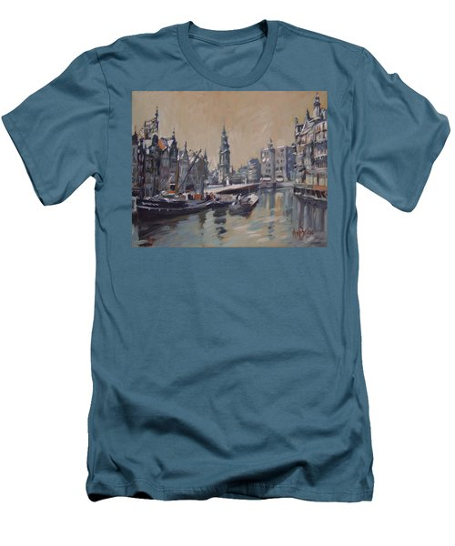 View To The Mint Tower Amsterdam Men's T-Shirt (Slim Fit) by Nop Briex