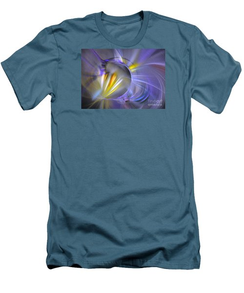 Vigor - Abstract Art Men's T-Shirt (Slim Fit) by Sipo Liimatainen