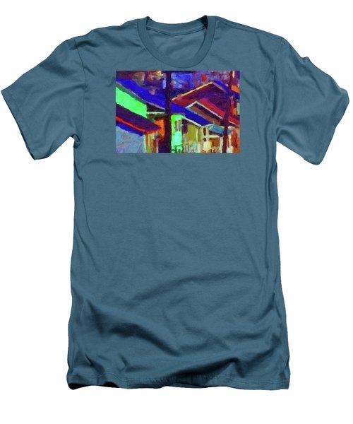 Village Houses Men's T-Shirt (Slim Fit) by Richard Farrington