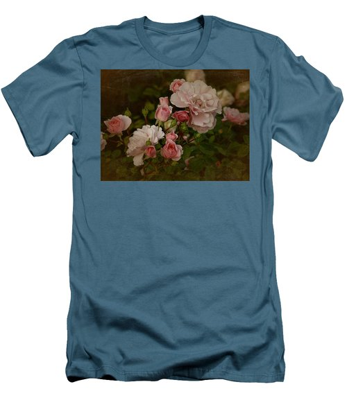 Men's T-Shirt (Slim Fit) featuring the photograph Vintage June 2016 Roses by Richard Cummings