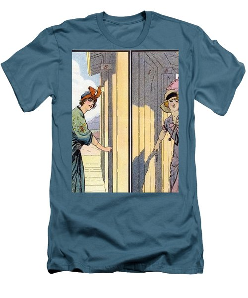Vintage Art, Glamour Image Men's T-Shirt (Athletic Fit)