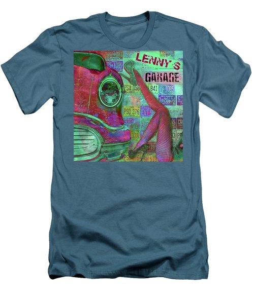 Vintage Garage Print Men's T-Shirt (Slim Fit) by Greg Sharpe