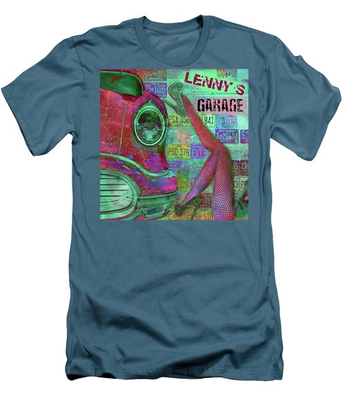 Vintage Garage Print Men's T-Shirt (Athletic Fit)