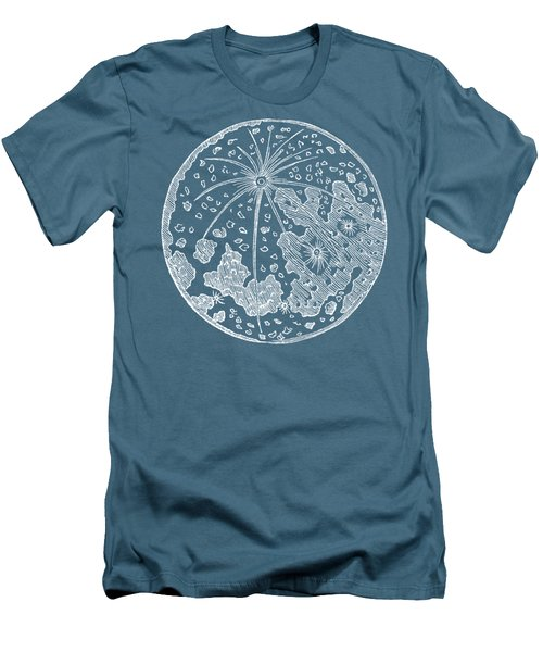 Men's T-Shirt (Slim Fit) featuring the photograph Vintage Planet Tee Blue by Edward Fielding