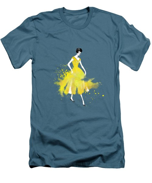 Vintage Yellow Dress Men's T-Shirt (Slim Fit)