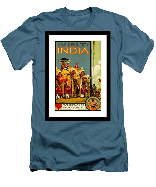 Visit India The Great Indian Peninsula Railway 1920s By A R Acott Men's T-Shirt (Slim Fit) by Peter Gumaer Ogden Collection
