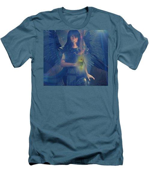 Vitiligo Angel Men's T-Shirt (Slim Fit) by Suzanne Silvir