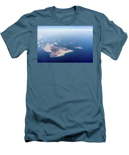 Volcano Island Men's T-Shirt (Slim Fit) by Teemu Tretjakov