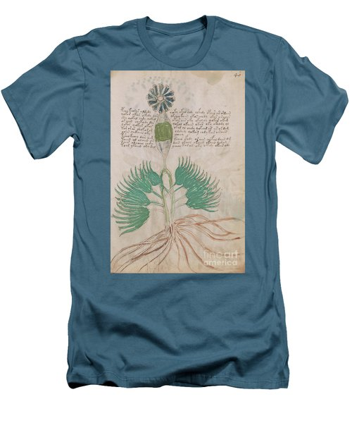 Voynich Flora 16 Men's T-Shirt (Athletic Fit)
