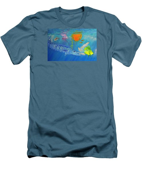 Wahoo Dolphin Painting Men's T-Shirt (Athletic Fit)