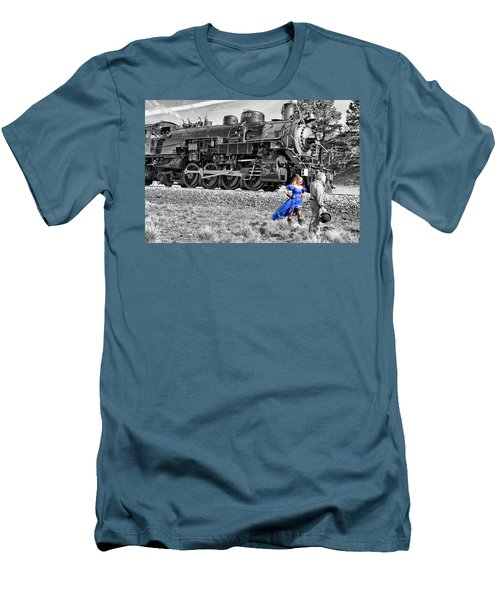 Waiting For The Train Men's T-Shirt (Athletic Fit)