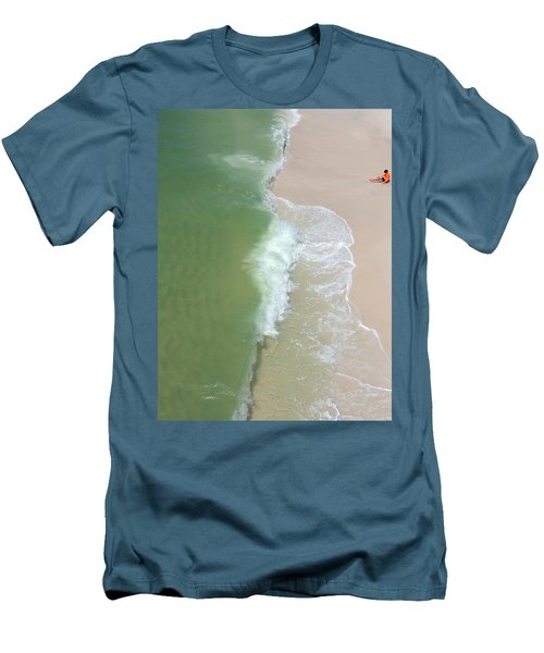 Waiting For The Wave Men's T-Shirt (Slim Fit) by Teresa Schomig