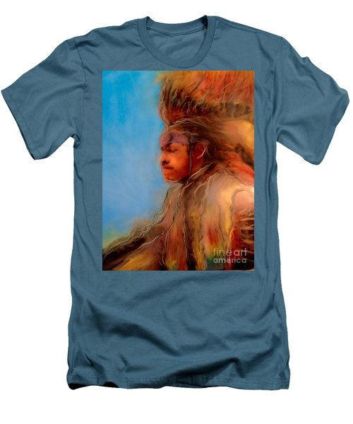 Wakantanka Maka Kin Kaye Men's T-Shirt (Slim Fit) by FeatherStone Studio Julie A Miller