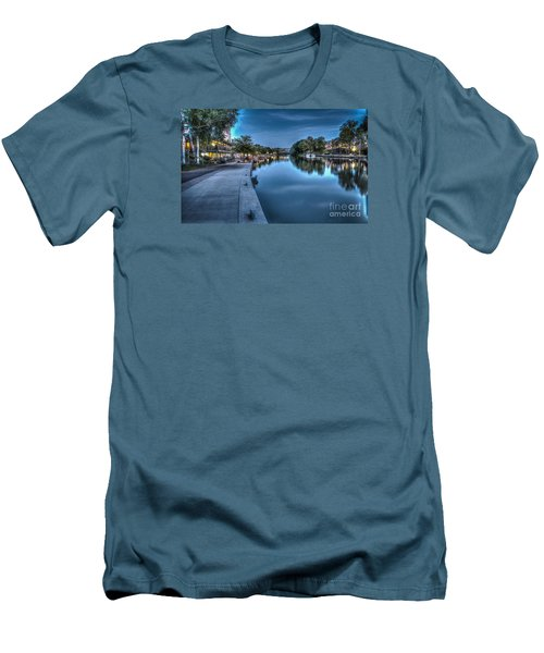 Walk On The Canal Men's T-Shirt (Athletic Fit)