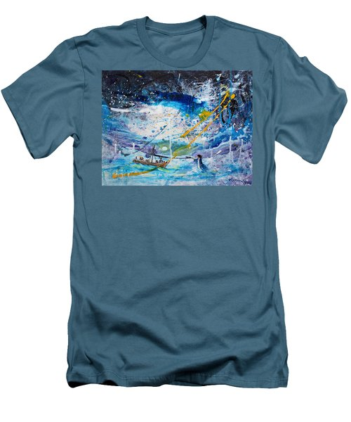 Walking On The Water Men's T-Shirt (Slim Fit) by Kume Bryant