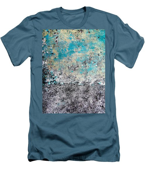Wall Abstract 174 Men's T-Shirt (Slim Fit) by Maria Huntley