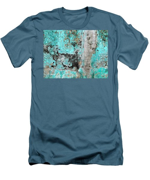 Wall Abstract 219 Men's T-Shirt (Slim Fit) by Maria Huntley