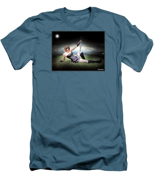 Warrior Princess At Rest Men's T-Shirt (Athletic Fit)