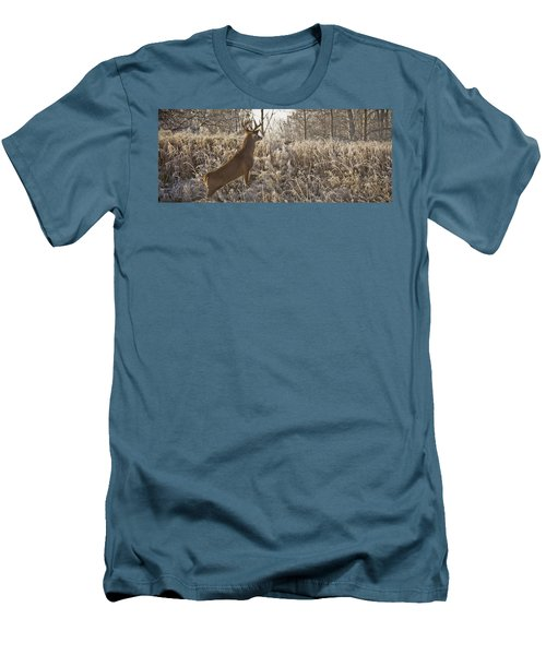 Wary Buck Men's T-Shirt (Athletic Fit)
