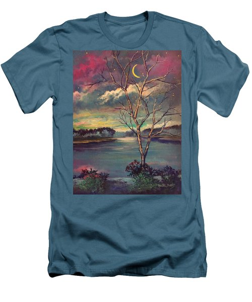 Was Like Stained Glass Men's T-Shirt (Slim Fit) by Randy Burns