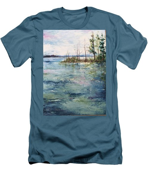 Washed By The Waters Series Men's T-Shirt (Slim Fit) by Robin Miller-Bookhout