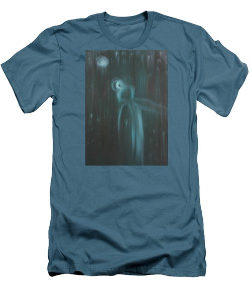 Men's T-Shirt (Slim Fit) featuring the painting Wasted Time by Min Zou