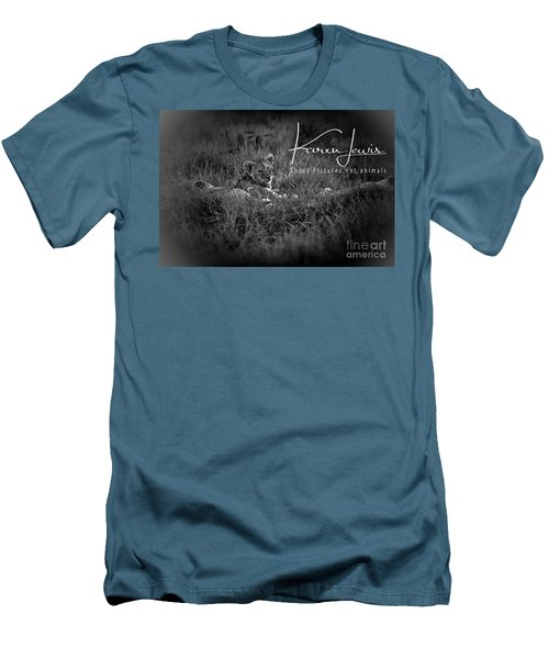 Men's T-Shirt (Slim Fit) featuring the photograph Watching You Watching Me by Karen Lewis