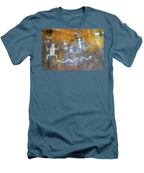 Watchtower Rock Art  Men's T-Shirt (Athletic Fit)