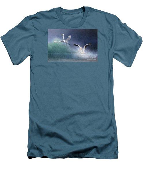 Water Ballet Men's T-Shirt (Slim Fit) by Bonnie Barry