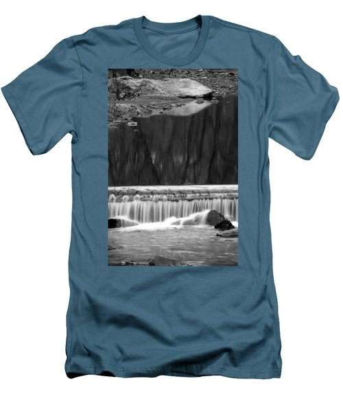 Water Fall And Reflexions Men's T-Shirt (Slim Fit) by Dorin Adrian Berbier
