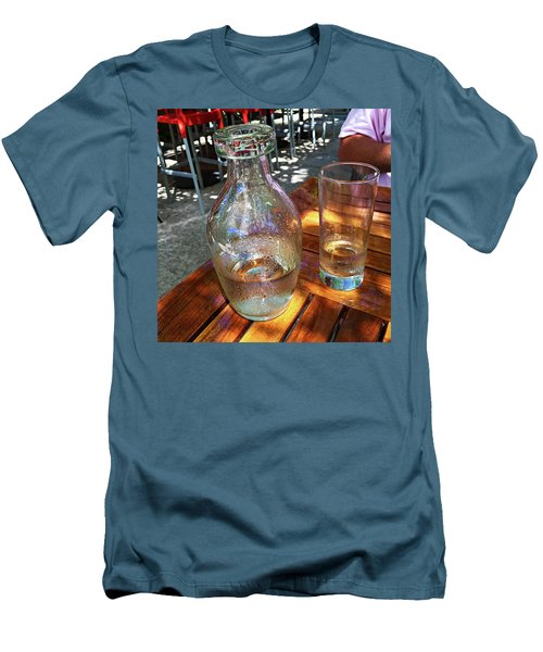 Men's T-Shirt (Slim Fit) featuring the photograph Water Glass And Pitcher by Angela Annas
