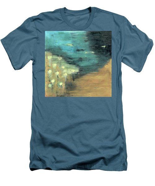 Water Lilies At The Pond Men's T-Shirt (Slim Fit) by Michal Mitak Mahgerefteh