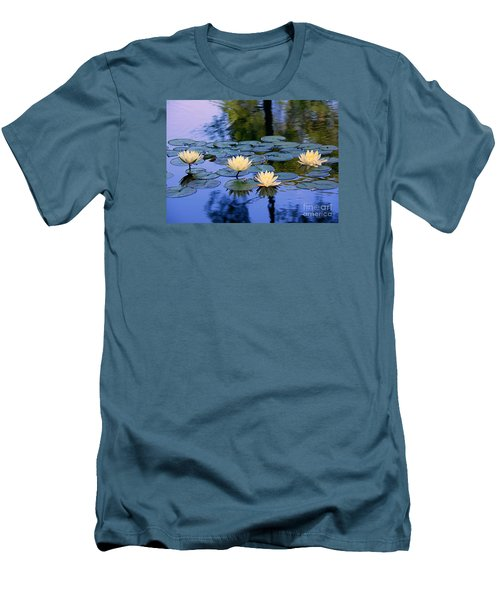 Water Lilies Men's T-Shirt (Slim Fit) by Lisa L Silva