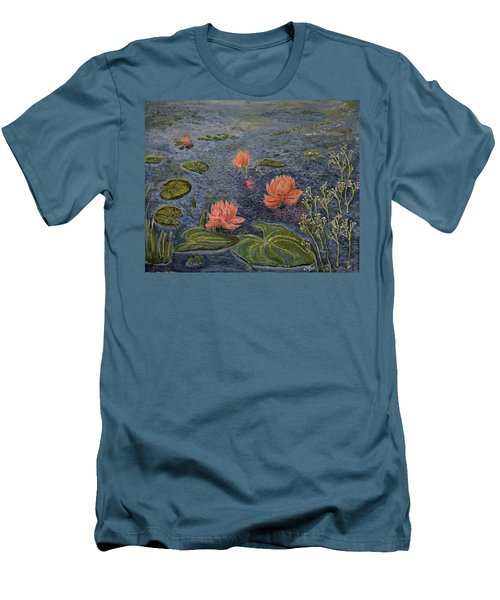 Water Lilies Lounge Men's T-Shirt (Slim Fit) by Felicia Tica