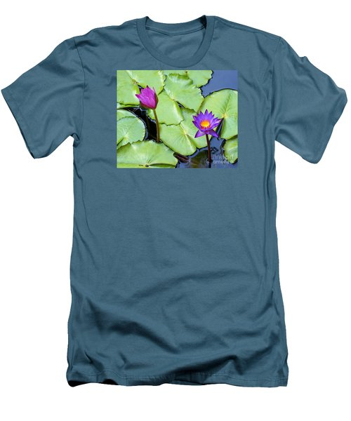 Water Lily 2 Men's T-Shirt (Athletic Fit)