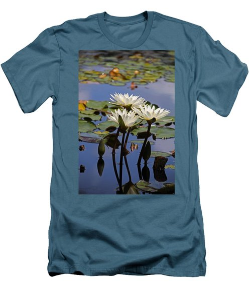 Water Lily Reflections Men's T-Shirt (Athletic Fit)