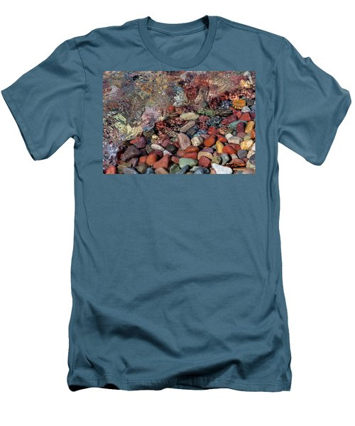 Men's T-Shirt (Athletic Fit) featuring the photograph Water On The Rocks by Fran Riley