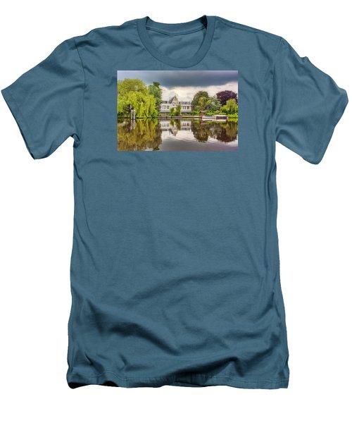 Water Reflections Men's T-Shirt (Slim Fit) by Nadia Sanowar