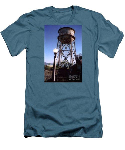 Water Tank Tower Alcartraz Men's T-Shirt (Slim Fit) by Ted Pollard